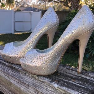 Bling pageant shoes